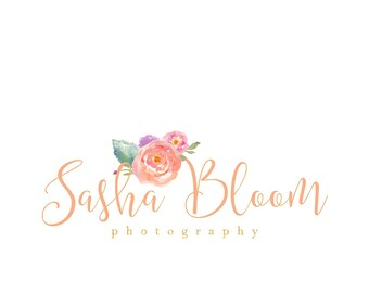 Business Logo, Logo Design, Photography Logo, Calligraphy Logo, Premade Logo, Floral Logo, Floral
