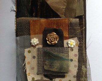 Scrap fabric kit for mixed media