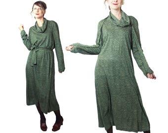 1970s Diane Von Furstenberg Cowl Neck Knit Dress