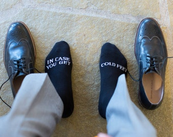 In case you get cold feet socks wedding gift grooms socks, wedding gift idea wedding client gifts