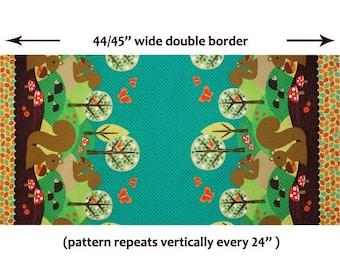 """Norwegian Woods Nuts for Dinner Double Border - Michael Miller - 1 Short Yard (34"""")"""