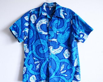 Royal Hawaiian Bark Cloth 1970s Shirt eyufPD