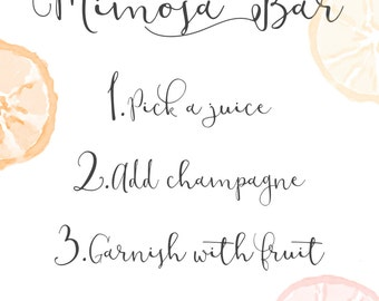 Mimosa Bar *Instant Download* Party Printable