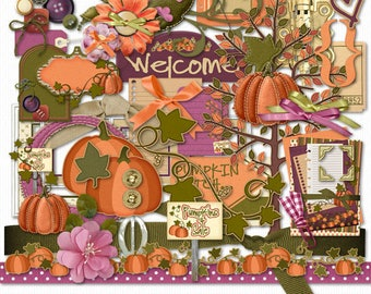 Pumpkin Patch Digital Scrapbook Elements