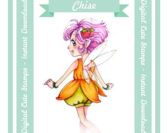 Digital Stamp, Chise, Scrapbooking Digital Stamp, Instant Download, Zuri Artsy Craftsy, Digi Stamp, Cardmaking, coloring page