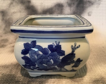 Blue and White Ginger Jar Planter