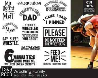 Wrestling svg / Wrestling Family svg / Wrestling Mom svg / Wrestling Dad svg / svg files / svg for Cricut / svg for Silhouette / svg bundle