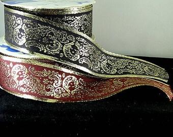 Gold Metallic Paisley Trim - Renaissance Faire - Victorian