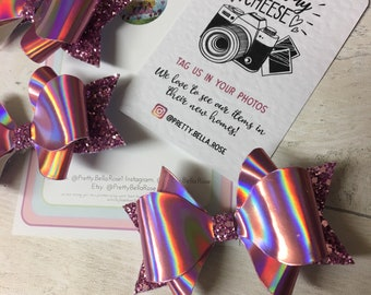 Holographic Pink Bow