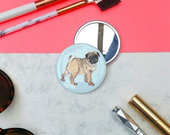 Pug Pocket Mirror