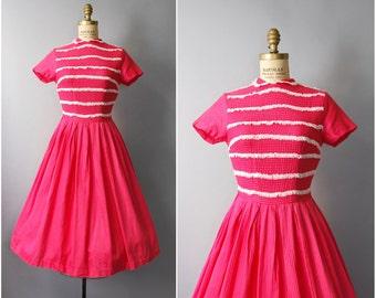 1950's Jonathan Logan Pink Cotton Dress • small