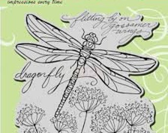 Dragonfly Stamp, Stampendous, Dragonfly Wings, Rubber Stamp, Card Making, Paper Craft, Butterfly Stamp