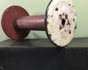 Vintage Industrial Wooden Textile Spool
