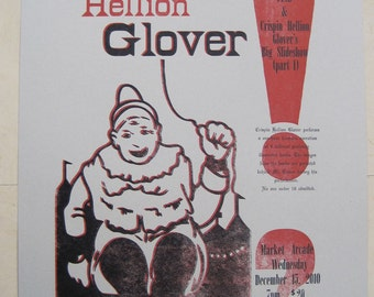 Crispin Hellion Glover limited edition letterpress poster