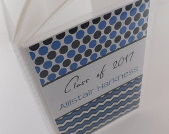 Graduation Photo Album Highschool High School College Kindergarten graduate Gift Blue Black Senior Class 4x6 or 5x7 picture 740