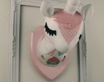 Pink Unicorn Stuffed Taxidermy