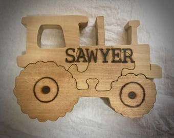 Tractor  | Wooden Puzzle | Wooden Toys | Christmas Gifts | Gifts for | Kids Gift | Wood Toys | Wood Puzzle | Personalized | Jigsaw Puzzle