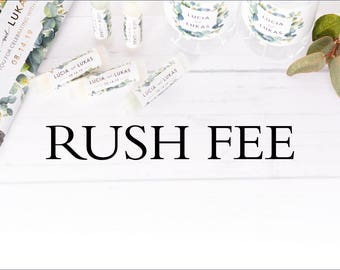 RUSH FEE - order this to move to the front of our order que and ship the same business day you order. See description for details.