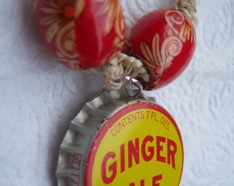Natural Hemp with Ginger Ale Bottlecap