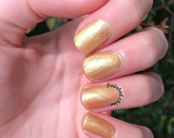 Morning Story - Peach Nail Polish - Apricot Nail Polish - Neutral - Gold - Nail Polish - Vegetarian Nail Polish - 5 Free - Ready to Ship