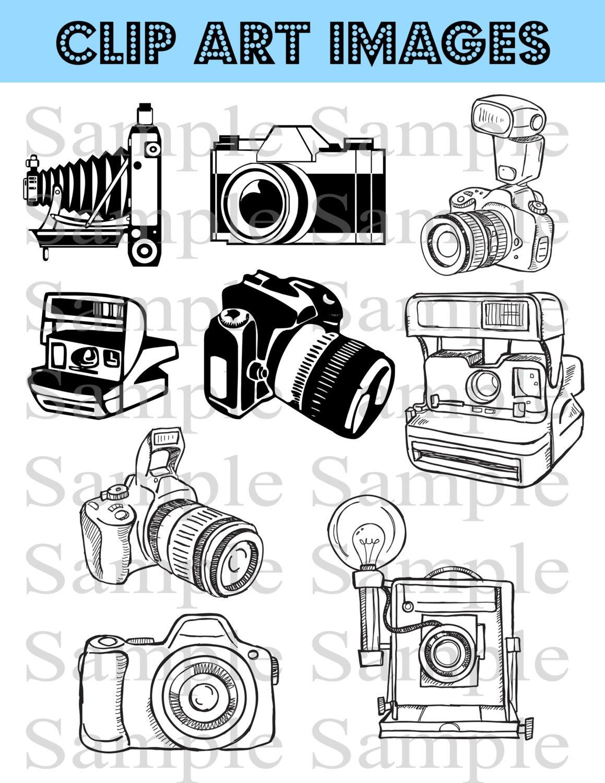 Camera Clipart Clip Art INSTANT DOWNLOAD Photography Logo