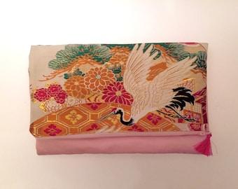 Obi / Kimono / Bag / GD1076 Traditional Japanese Pattern Obi Clutch Bag