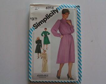 Vintage Simplicity Pattern 6214 Misses Dress Sash