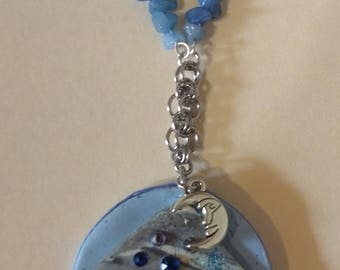 Fun blue pendant