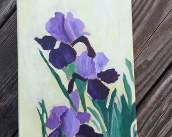 Iris, original 8x10 acrylic painting
