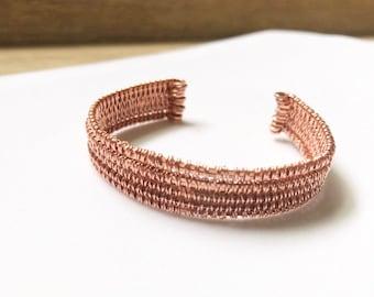 Copper Bangle, Copper Bracelet, Copper Jewelry, Wire Wrapped Bracelet, Wire Wrapped Bangle, Wire Wrapped Jewelry