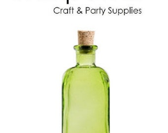 Nakpunar Green Recycled Glass Bottle with Cork 8 oz (250 ml)