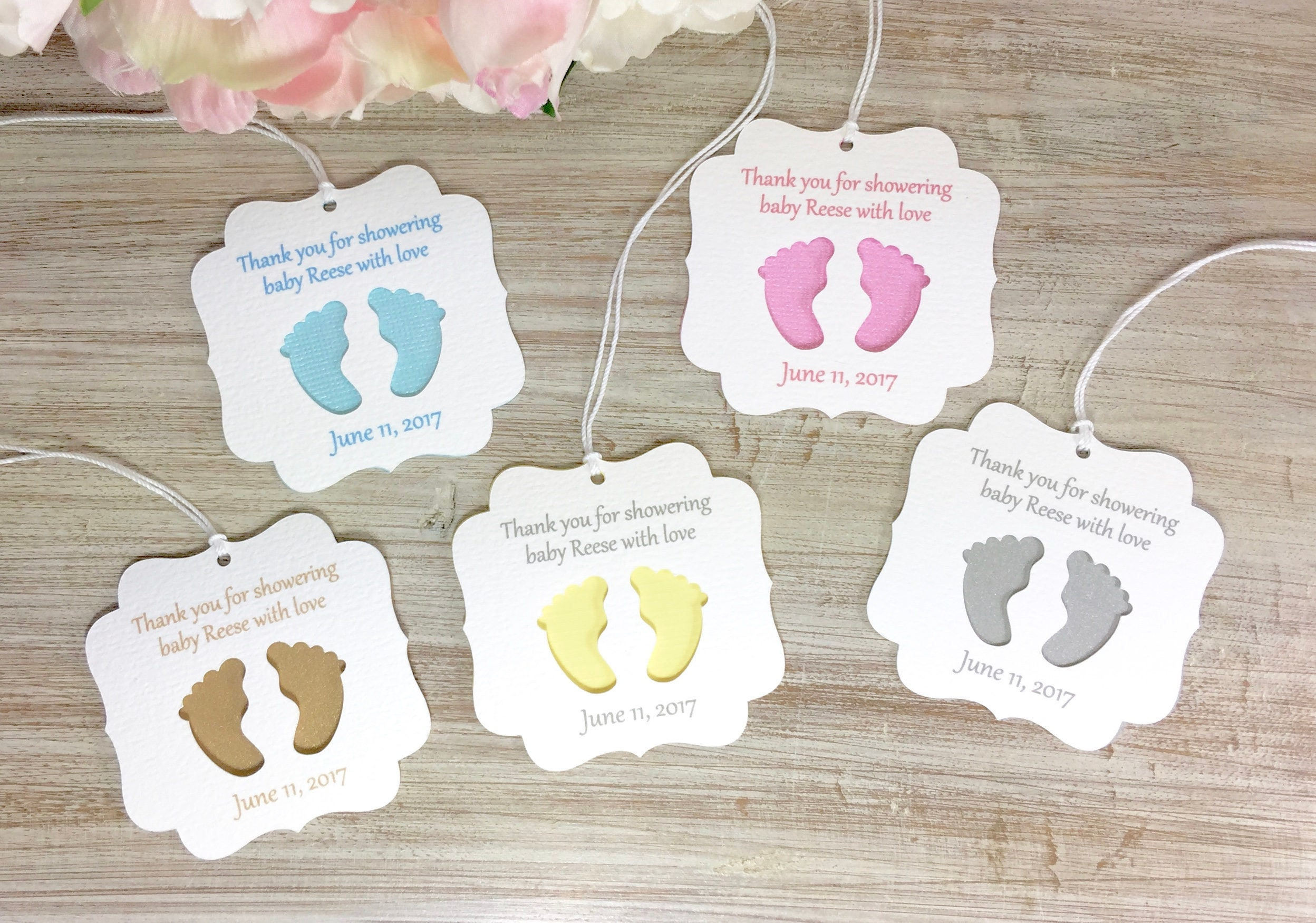 Baby shower favor tags baby shower party favor tag baby