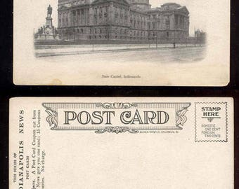 The State Capitol Indianapolis Indiana Vintage Postcard The Indianapolis News Giveaway #242