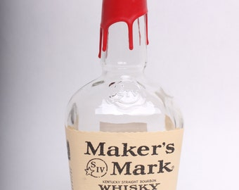 Empty Liquor Bottle --  Maker's Mark Handmade Whiskey 750ml