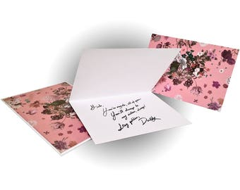 Bouquet Greeting Card - Pink