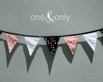 Sewing Kit - Flag Bunting - Rose & Navy