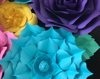 HARD COPY Template 10 Large Paper Flower