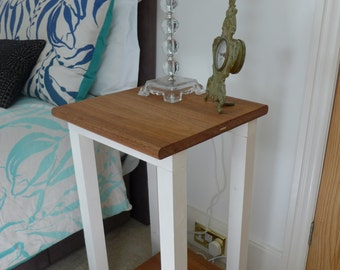 Bedside Table / Nightstand - reclaimed Oak