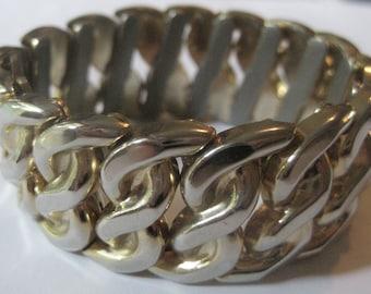 Vintage Bergere Stretchy Bracelet Wide Hefty