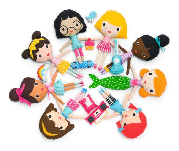 NEUE Freundinnen Puppe Nähen Panel Kit von Ann Kelle