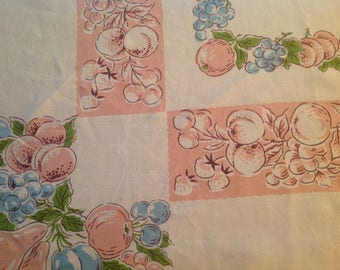 Retro Tablecloth Blue And Pink Tablecloth Countryside French Farmhouse  Cottage Chic Dining