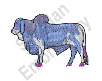 Gray Brahman - Machine Embroidery Design, Cattle, Cow