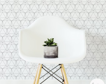 Modern Geometric Removable Wallpaper / Traditional or Self adhesive Wallpaper A012