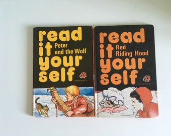 Vintage ladybird book read it yourself red riding hood peter and the wolf