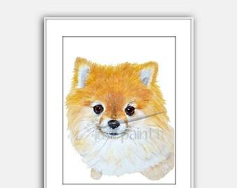 Pomeranian Painting Pomeranian Art Print Instant Download