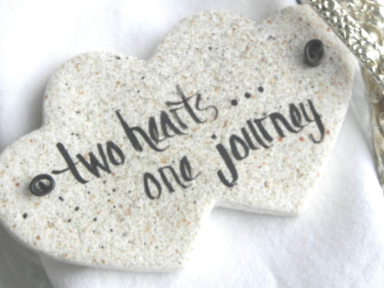 Double heart wedding favor napkin rings salt dough ornaments zoom junglespirit Choice Image
