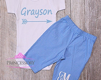 baby boy coming home outfit  - Baby Boy Personalized - Baby Boy Gift - Newborn outfit - Newborn boy outfit - take home outfit - clothes