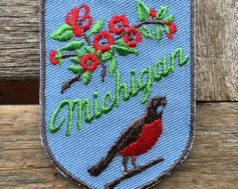 LAST ONE! Michigan Vintage Travel Patch by Voyager