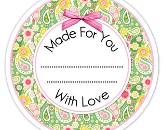 Custom Canning Labels, Paisley Made For You Stickers, Personalized Labels, From The Kitchen Stickers, Vanilla Stickers