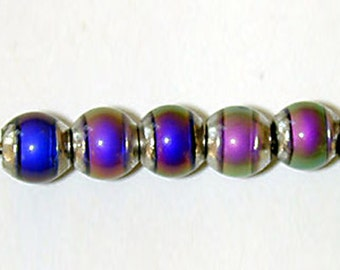 Mirage 5mm round color-changing mood bead